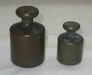 Гирьки старинные, латунь, пара №2750