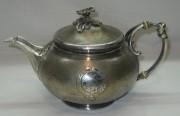 Чайник заварочный старинный, на 1,3 литра, серебрение, фабрика «Кристофль» Франция 19 век №2752