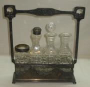 Набор для специй старинный, серебрение, «Br. Henneberg» Варшава 19 век №2733