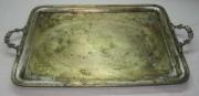 Поднос прямоугольный с ручками, серебрение, фабрика «Wolska» Варшава 19 век №2770