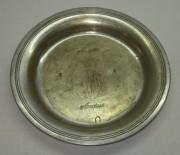 Блюдце старинное, тарелочка, серебрение, «А. Кач» 19 век №2764