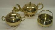Заварочный чайник с ситечком, сахарница и конфетница, Европа 19 век №2665