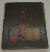 Икона «Господь Вседержитель» старинная, без оклада, Россия 19 век №2810