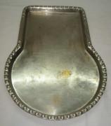 Поднос с кругом под самовар, никелировка, «медник Суксун» №2813