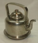 Чайник медный на 1,5 литра, никелировка, Европа 20 век №2845