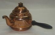 Чайник из меди с ручкой в бок, на 0,3 л, Европа 20 век №2863
