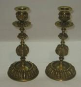 Подсвечники старинные парные, бронза, 19 век №2869
