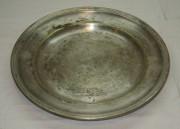 Тарелка старинная, серебрение, Европа 19-20 век №2924