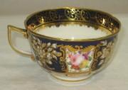Чашка старинная из фарфора, позолота, 19 век №2930