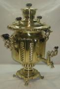Самовар старинный угольный «фонарь», на 5 литров, «Бр. Салищевых» 19 век №795