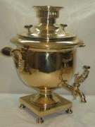 Самовар старинный угольный «ваза», на 7 литров, томпак, «Купчихи Пушковой» 19 век №793
