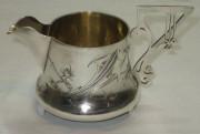Сливочник старинный, серебро 84 пр, модерн, 19-20 век №2953