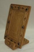 Рамка для фото, фоторамка из бересты, натуральные камни №2961