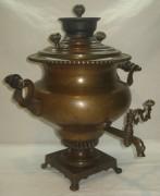Самовар угольный «репка», томпак, на 6 литров, «Н. Воронцов» 19 век №817