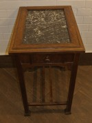 Стол старинный под самовар, мрамор, Россия 19 век №2985