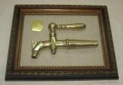 Панно настенное, картина «Бочковой кран», с медаль, 19 век №2990