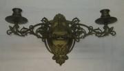 Канделябр старинный, подсвечник из бронзы, модерн №2991