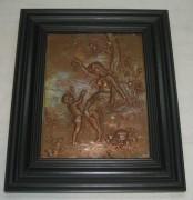 Панно настенное «Девушка», «Эротика», медь, 20 век №2997