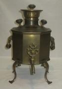 Самовар старинный «дорожный», на 2 литра, «Бр. Саколовы» 19 век №829
