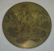 Панно настенное «Старинные корабли», бронза №3048