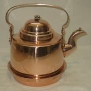 Чайник медный с кольцом на 4 литра, Швеция 19-20 век №3065