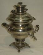 Самовар старинный угольный «эгоист» на 1,2 литра, Россия 19-20 век №850