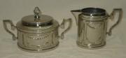 Сахарница старинная со сливочником, 19-20 век №3125