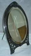 Настольное старинное зеркало на ножке 19 века Варшава, серебрение №747