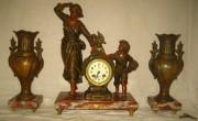 Каминные, настольные часы и косолеты, шпиатр, Европа №790