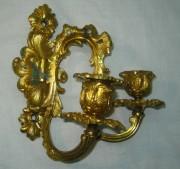 Подсвечник настенный для 2-х свечей, позолота, Россия 19 век №545