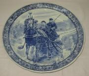 Блюдо старинное, панно «Лошадь», Бельгия 20 век №3189