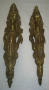 Накладки старинные «Девушка», элемент мебели, позолота №3215