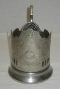 Подстаканник «Космос», никелировка, «Кольчугино» №3232