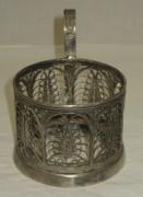 Подстаканник скань, серебрение, СССР №3234