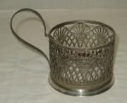 Подстаканник скань, серебрение, СССР №3243
