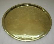 Поднос старинный круглый латунный №3270