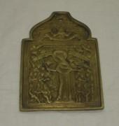 Плакетка старинная «Богоматерь Всем Скорбящим Радость» 19 век №3165