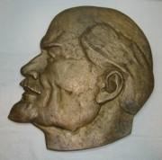 Барельеф, голова «Ленин», бронза №3365