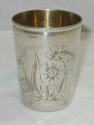 Стопка старинная, серебро 875 пр, модерн №3372