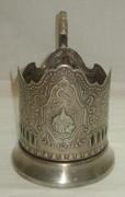 Подстаканник «Космос», серебрение, «Кольчугино» №3374