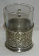 Подстаканник старинный со стаканом, модерн, «Геннигер» 19 век №3378
