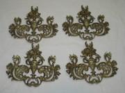 Элемент мебели, бронза, 4 штуки №3417