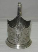 Подстаканник «Лилия», серебрение, СССР №3427