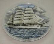 Тарелка настенная, панно «Корабль», фарфор №3475