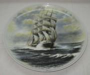 панно настенное, тарелка из фарфора «Корабль» №3477
