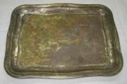 Поднос старинный прямоугольный «Словянов» 19 век №3498