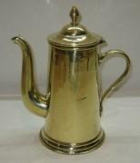 Кофейник старинный, латунный, «Т.К.» Россия 1920-е годы №3500