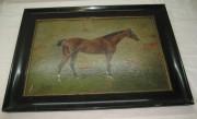 Картина старинная «Лошадь», начало 20 века №3506