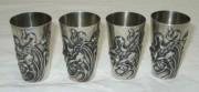 Набор серебряных стопок, модерн, серебро 900 проба, 19 век №3514