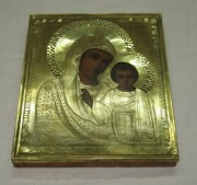 Икона старинная «Казанская Богоматерь» 19 век №3517